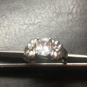 CZ Silver Ring Sz 7.5